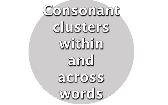 Consonantclusterswithinandacrosswords