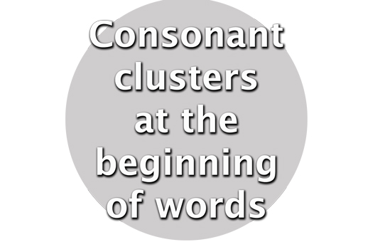 clustersatthebeginningofwords