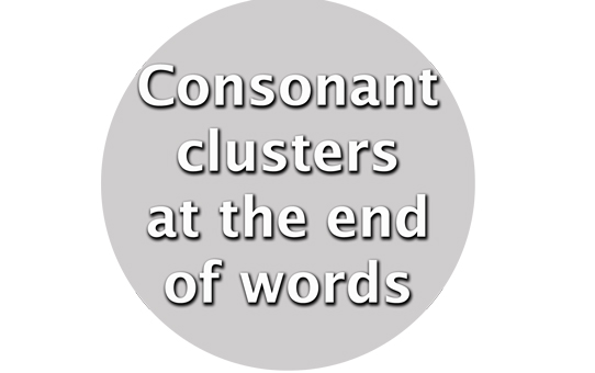 clustersattheendofwords